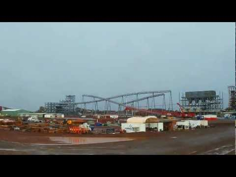 Fortescue Metals Group (FMG) Christmas Creek Ore Processing Facility timelapse January 2012