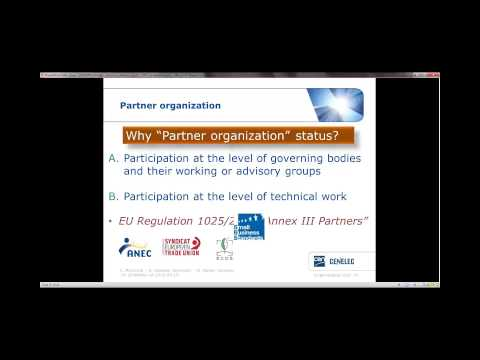 CEN and CENELEC 10-10 webinar: Role of partner organizations in Technical Committees