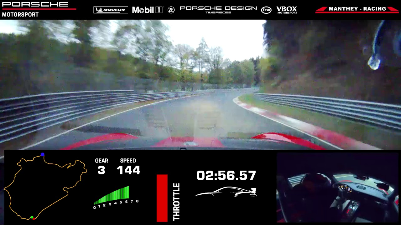 Porsche 911 Gt2 Rs Mr New Record At The Nurburgring Nordschleife Youtube