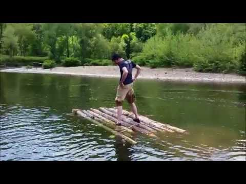 Building and riding our own wooden raft