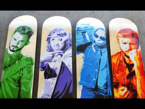 FOUR 4 LAYER SKATEBOARDS!