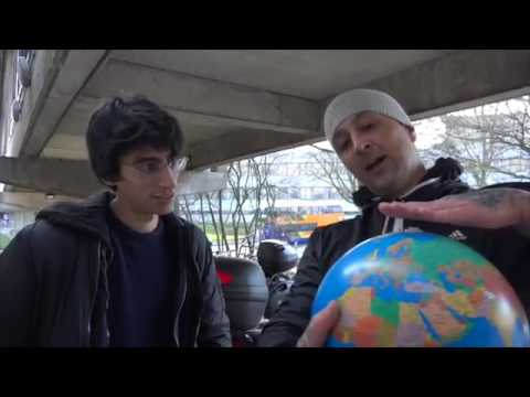 Flat Earth - street interview with student Martin