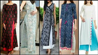 Stylish And Trendy Different Styles Of Open Slit Stylish Casual Kurti Design