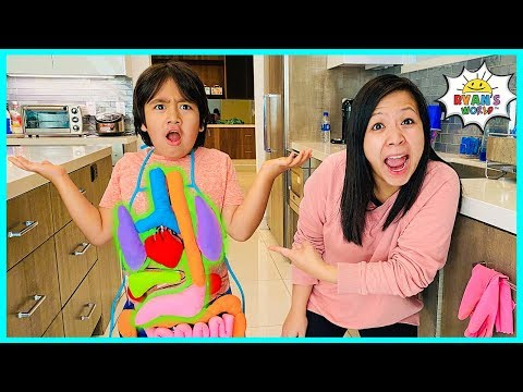 Learn about Parts of your body for kids   Educational Video Ryan's World