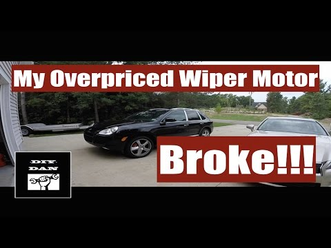 How To Replace a Porsche Cayenne VW Touareg Wiper Motor