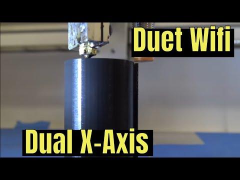 Duet Wifi Dual X Axis - YouTube