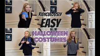 Ridiculously Easy Last-Minute Halloween Costumes