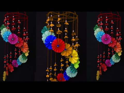 Paper wind chimes || How to make wind chime out of paper || Handmade paper wind chime || A Art