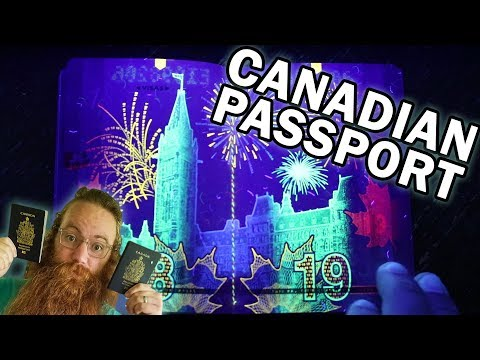 CANADIAN PASSPORT UNDER BLACK LIGHT. WOW! HIDDEN IMAGES.