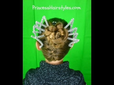 Braided Spider Bun Halloween Hairstyles