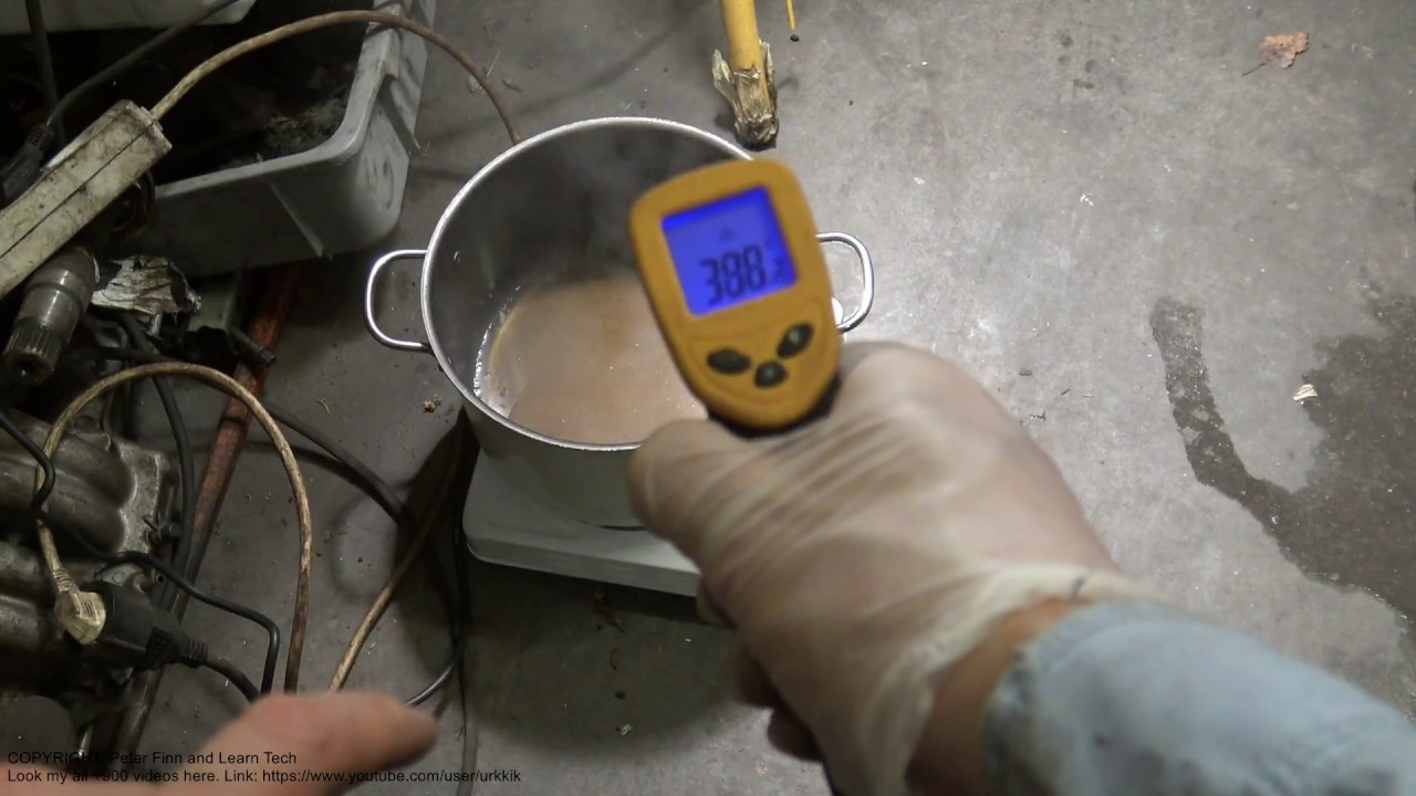How to measure engine oil boiling temperature