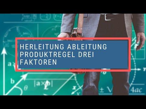 Herleitung Ableitung Produktregel drei Faktoren - YouTube