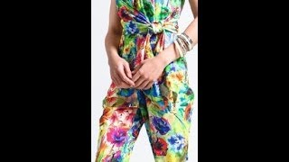 Kharyzma DIY: How to make a Floral Print Jumpsuit with ties.