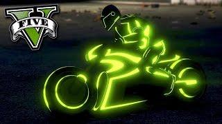 GTA V Online: A INCRÍVEL MOTO do TRON! (MOTO NEON)