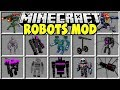 Minecraft ROBOT MOD | FIGHT GIANT MINECRAFT ROBOTS AND TRY TO SAVE THE VILLAGERS!