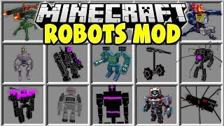 Minecraft ROBOT MOD   FIGHT GIANT MINECRAFT ROBOTS AND TRY TO SAVE THE VILLAGERS!