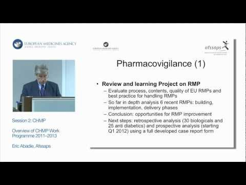 Session 2: CHMP: Work Programme and Current Issues