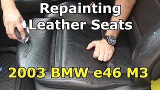 How to paint BMW M3 leather seats