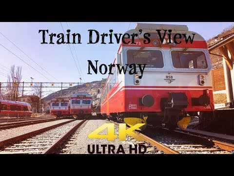 Train Driver's View: Spring time = Tourists on the Local Service between Voss and Myrdal in 4K UHD