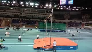 Paweł Wojciechowski, pole vault, 540cm. Poland, Toruń 27.01.2018.