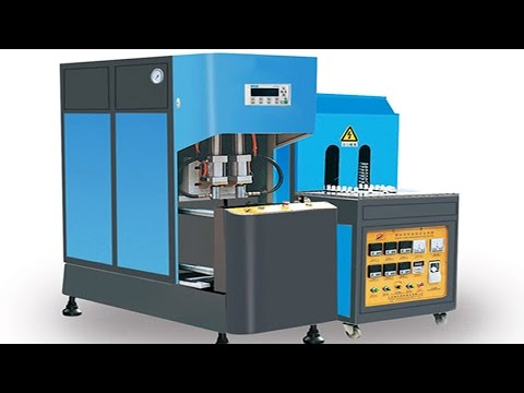 two cavity PET glass bottles blower equipment semi automatic container blowing mould making machine