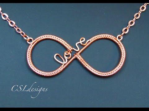 Infinity love wirework pendant ⎮ Valentine's Day