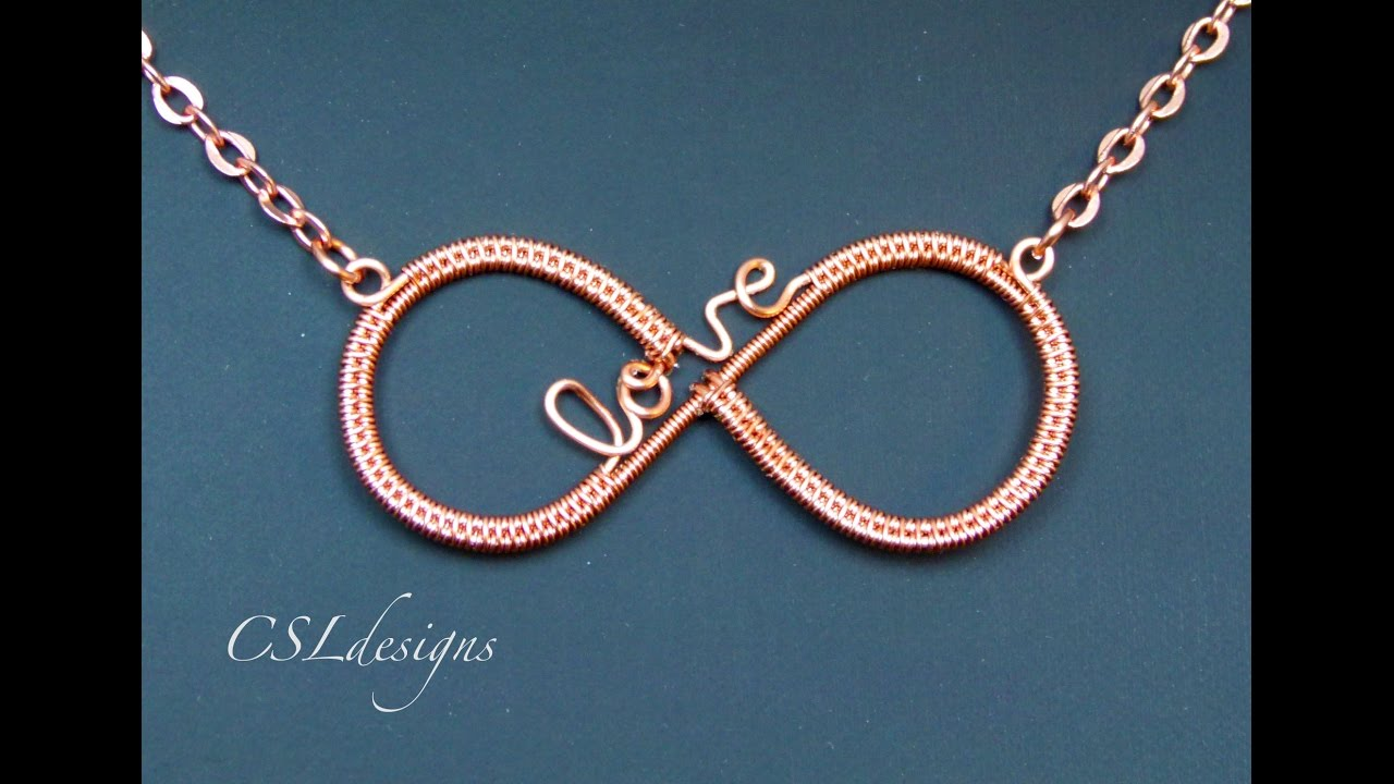Infinity love wirework pendant ⎮ Valentine\'s Day - YouTube