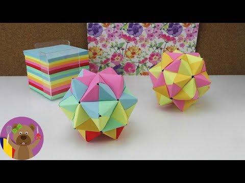 Stea origami | tutorial Origami modular | Cum sa faci o stea 3D