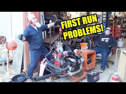 FIRST RUN! - High Performance VW Engine Build - 1776cc Beetle - Cold Start