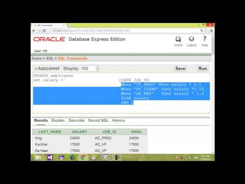 7- Oracle Database insert - update - delete - intro select