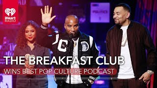 The Breakfast Club Accepts Award For Best Pop Culture Podcast!