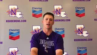Senior catcher Kelsey Richard discusses his NSU baseball career