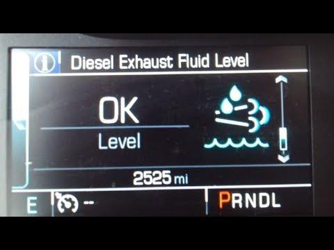 2 8 Duramax Diesel DEF Guide Capacity computer % range accuracy refill  Exhaust Fluid Cost