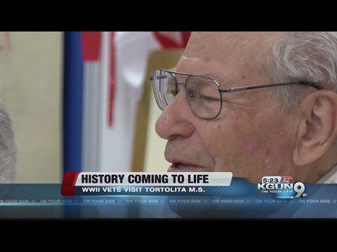 WWII Vet speaks to students at Tortolita Middle School
