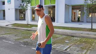 Health Message - Regular jogging is good for the heart and helps to de-stress