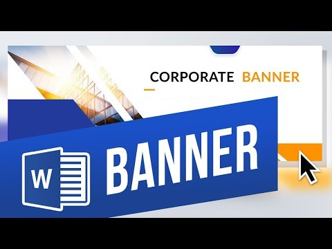 How To Make A Banner In Word Youtube