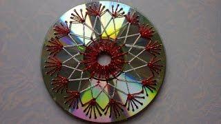 Поделки из СД дисков. Crafts from CD discs.