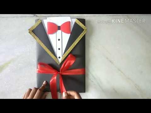 HANDMADE GIFT IDEA FOR BOYFRIEND :TUXEDO CARD