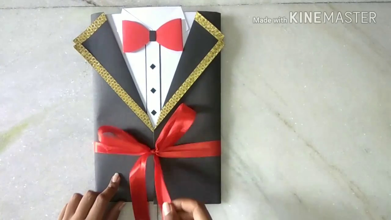 Handmade Gift Idea For Boyfriend Tuxedo Card Youtube