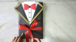 HANDMADE GIFT IDEA FOR BOYFRIEND :TUXEDO CARD