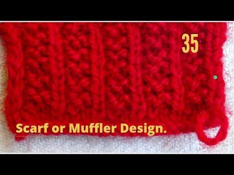Scarf Knitting Patterns In Hindi Muffler Knitting Design Patterns