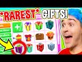 UNBOXING The 10 *RAREST* GIFTS In Adopt Me HISTORY!! Opening *EXPENSIVE* PRESENTS In Roblox Adopt Me