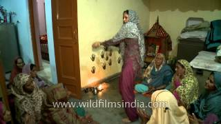 Lady dancing to regional song on Diwali