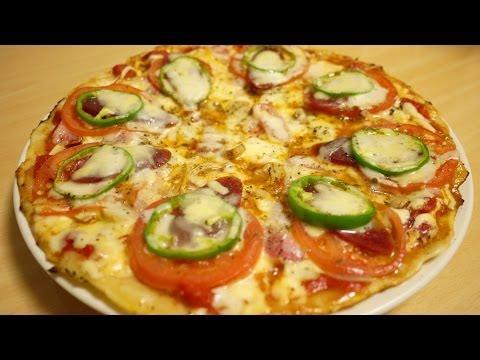 ピザの作り方フライパンひとつで生地から作れますHow to make a Pizza