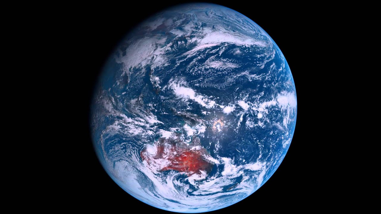 Earth View From Himawari 8 Satellite 1 Day HD Timelapse
