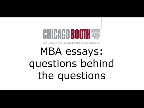 Chicago Booth MBA application essays: questions behind the questions