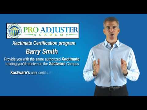 Xactimate User Certification by Pro Adjuster Academy