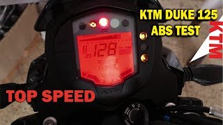 KTM DUKE 125 ABS TEST AND TOP SPEED | BSB VLOGS