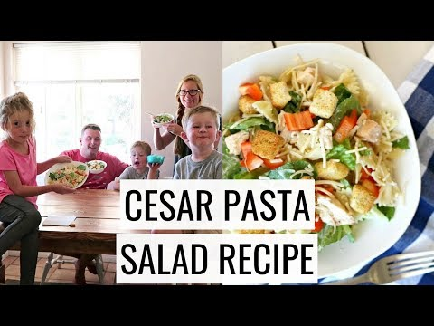 Easy Cesar Pasta Salad Recipe | What We Eat On The Cheap Episode 1