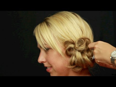 Wedding Hairstyle Tutorial: Side Bun - YouTube